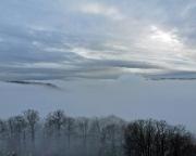 Überraschendes Finale kurz vor der Heimfahrt: der Nebel fällt und verwandelt das Elbi in eine Traumlandschaft