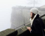 Auch wenn man nichts sieht - die Festung im Nebel hat auch hre Reize ;)