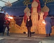 Tour 12/2014 - Ein unerwarteter und hier nicht weiter auszuführender Lacher - Almuth als plötzlicher Bestandteil einer Feuershow ;)