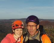 Tour 08/2015 - Ganz oben - Siegerfoto auf dem Langen Horn in den Affensteinen