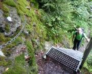 Flößersteig im Bereich Ostrauer Mühle, Beginn der Kletterei