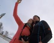 Selfi beim Selfi, das ist doch mal was - die neue GoPro-Cam wird probiert