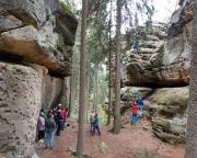 Fechi steigt die erste Tour vor, der Alte Weg am Steinbachturm