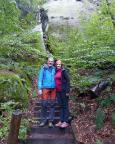 Beim rutschigen Aufstieg vom Königsweg zum Kleinen Winterberg