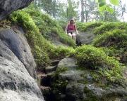 Treppengrund, Abstieg vom ersten Teil des Thorwalder Gratweges