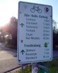 Das überraschend weite Tagesziel ist erreicht, Rothenburg an der Neiße