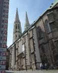 Ankunft in Görlitz mit der beeindruckenden Pfarrkirche St. Peter und Paul