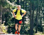 Erster Berglauf seit meiner Erkrankung, völlig fertig komme ich auf dem Töpfer an