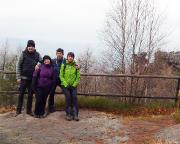 Unser Silvester Wander- und Feierteam an der Oybinaussicht am Töpfer