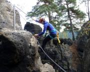 Nonnenfelsen Klettersteig bei Jonsdorf, das endgültige Finale