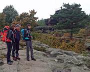 Aussichtspunkt am Felsentor an der Töpferbaude, Ankunft im Zielgebiet