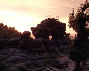 Sonnenuntergang am Felsentor an der Töpferbaude
