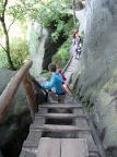Kleiner Dom, Abstieg aus Richtung Schrammsteine in das Sandloch