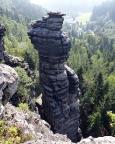 Kanzelturm, einer der schwersten Gipfel des Tales vom Massiv gesehen