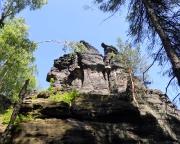 Südlicher Wiesenstein, Blick vom  Zustieg in die Südseite
