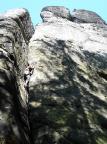 Kleiner Halben, Klettern im Südwestriss VI, saubere Technik ist gefragt