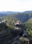 Neuwegkanzel, Blick vom Massiv zum Gipfel, der schwer zu finden ist