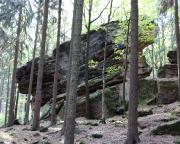 Giesensteinwand am Brand bei Berggießhübel, Blick in die Talseite