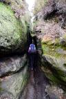 Pfaffenstein - Durchschlupf zur Barbarine auf dem Touristenweg