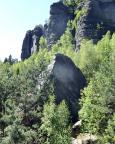 Pfafrfenhütchen am Pfaffenstein  - aufgenommen vom Gipfel der Klamotte