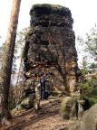 Cunnersdorfer Nadel, abseits gelegen und doch ein lohnender Gipfel