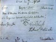 Saurier, Schrammsteine, Gipfelbuchspruch für das Jahr 2013