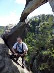 Portalturm, am Abseilstand unter dem gewaltigen Felsportal