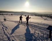 Auch das geht bei guten Schneeverhältnissen - Wintersport in Hinterhermsdorf