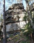 Dorfbachwand - Blick in die schmale Südostwand