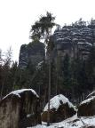 Bärfangwarte, Blick vom Wanderweg unterhalb des Wintersteins