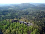 Wartburg, einer der bedeutendsten Klettergipfel des Gebietes