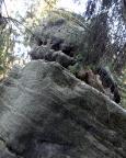 Sprotte, Gipfel am Heringstein, Blick in die Schnelle Reibung, V