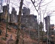 v.l.n.r. Doppeltürmchern, Obere und Untere Winterbergspitze, aufgenommen vom Fremdenweg