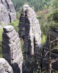 Blick von der Raaber Scheibe auf Raaber Säulke und Raaber Turm