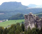 Eine andere Sicht auf den Mönch, hier vom Gipfel des Plattensteins aus gesehen