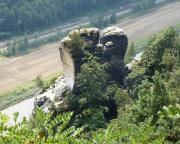 Wartturm, aufgenommen  in der Nähe der Bastei