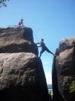 Golem, Gipfel hoch oben in den Schrammsteinen, Alter Weg III