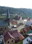 Blick von der Befestigungsanlage auf den Marktplatz von Stadt Wehlen
