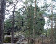 Rabentürmchen aus Sicht des Zustieges von der Felsenmühle