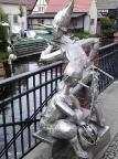 Lutki beim Angeln, interessante Skulpturen beim Geocaching in Lübbenau