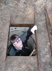 Einstieg in einen unterirdischen Bunker der Staatssicherheit bei Teupitz