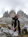 Geocaching beim Wandern um die Drei Zinnen in den Sextener Dolomiten