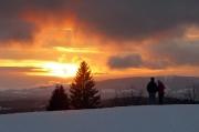 13 - Der letzte Sonnenuntergang 2017 über dem Jeschkengebirge