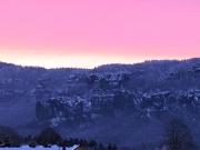 03 - Sonnenaufgang bei klirrender Kälte im Elbsandsteingebirge