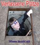 Lost Place Geocaching bei Teupitz - Wiese taucht in einen Bunker ab