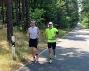 Mit Wiese bei 36 Grad auf Joggingtour von Bagenz nach Cottbus