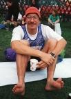 Rennsteiglauf Supermarathon 1993, 66,5 km, im Ziel in Schmiedefeld