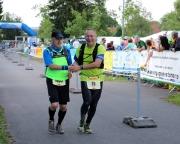 Rennsteiglauf 2018, gemeinsam mit Uwe Deinlein im Ziel