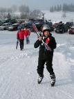 Der Skispaß kann beginnen: am Abfahrtshang in Hrabetice