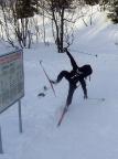 Skiakrobatik! Na gut, ich gebe es zu: den Sturz gerade so verhindert ;) Foto: Matthias Bölke